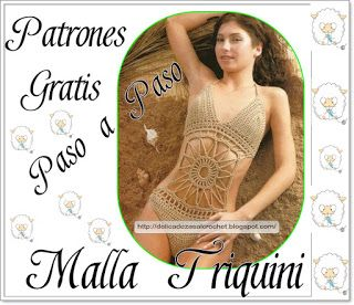 Delicadezas en crochet Gabriela: Malla triquini con paso a paso