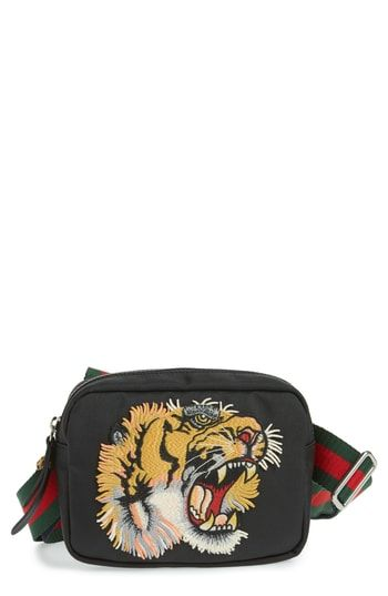 c18acb95e24ef6 GUCCI TIGER EMBROIDERED TRAVEL BAG - NONE. #gucci #bags #shoulder bags #