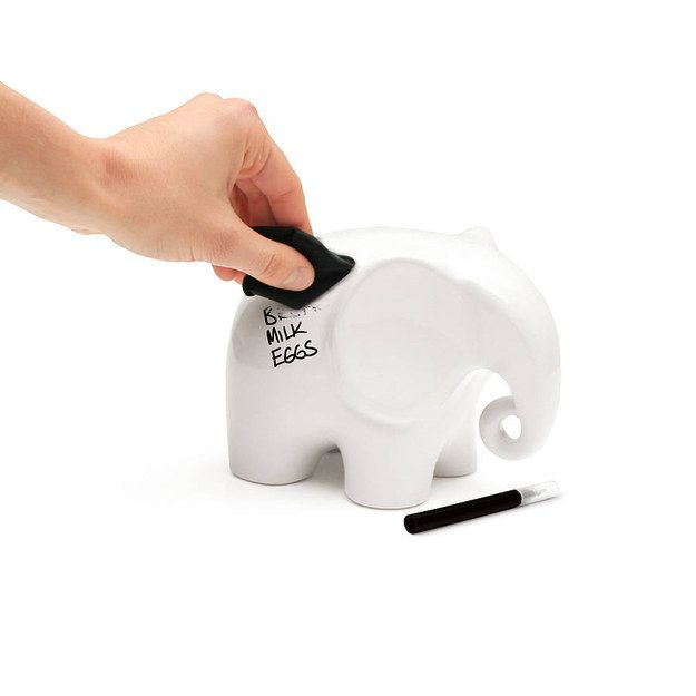 A tiny elephant that you can use to write memos on. | 26 Office Accessories That Will Make You Happier To Be At Work