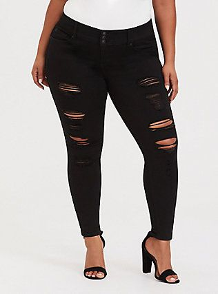 9b0317edfc Plus Size Premium Stretch Jegging - Black Wash