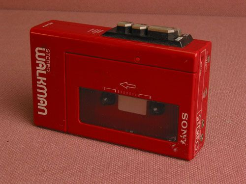 Red Sony Walkman cassette player ( I had this very one *sigh*)
