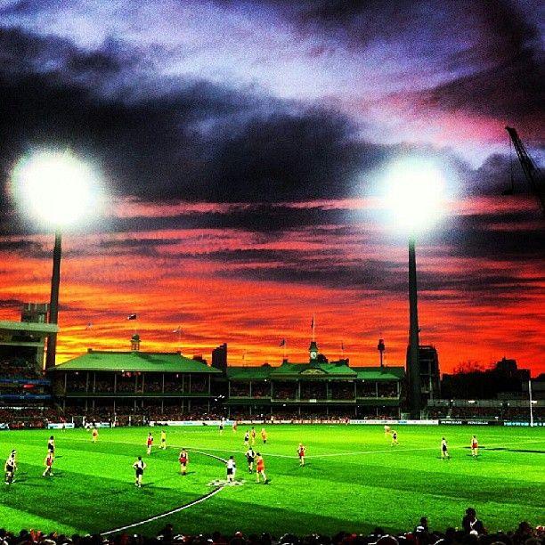 perfect twilight match v Richmond - great win Swannies! photo by mitchylamar(instagram)