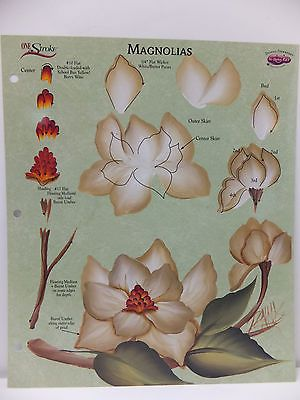 Donna Dewberry One Stroke Painting RTG Magnolias Worksheet White Tree Flowers in Crafts, Art Supplies, Decorative & Tole Painting   eBay