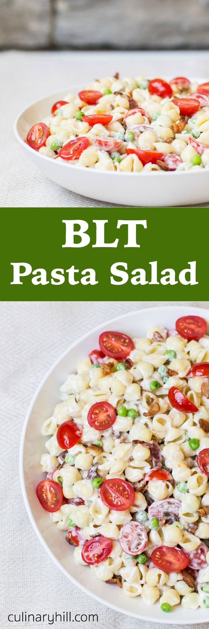 Inspired by the classic sandwich, this BLT Pasta Salad has only 6 ingredients, and they will all rock your lunch box! The perfect side dish for parties, too!