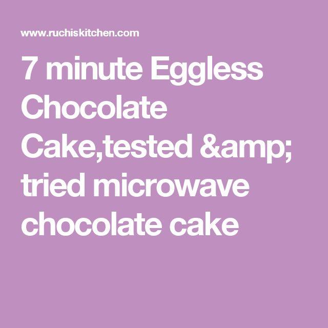 7 minute Eggless Chocolate Cake,tested & tried microwave chocolate cake