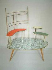 plant stand with trellis - mid century modern