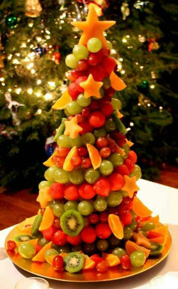 Superior Alternative Christmas Party Ideas Part - 13: Fruit Christmas Tree Appetizer!