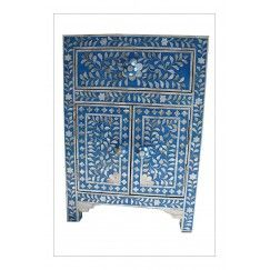 BLUE MOTHER OF PERAL INLAY BEDSIDE