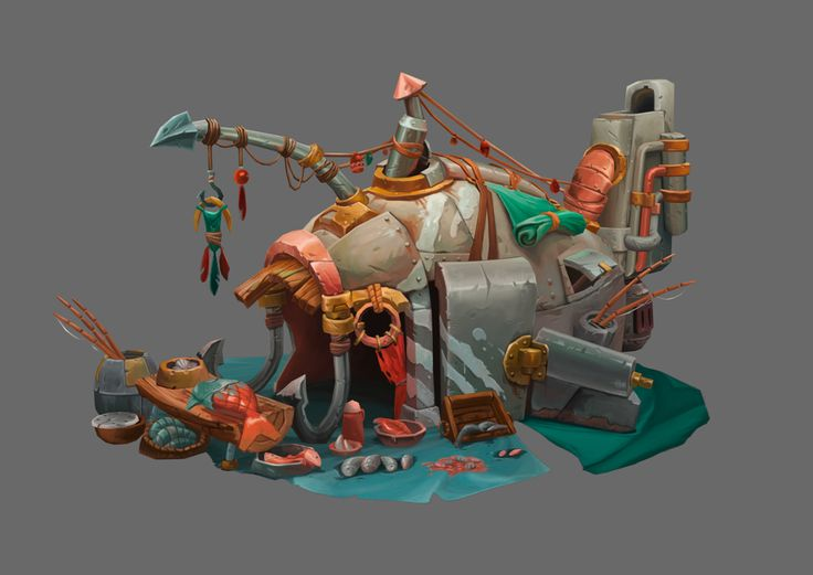 ArtStation - Fish House, Juliano Yi