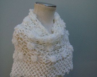 White Bridal ShawlBridal Shrug Crochet Shawl Bridal Bolero