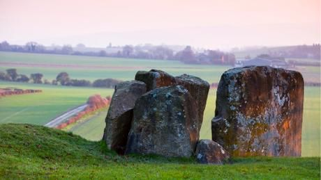The Burial Chamber at Coldrum Long Barrow in Kent