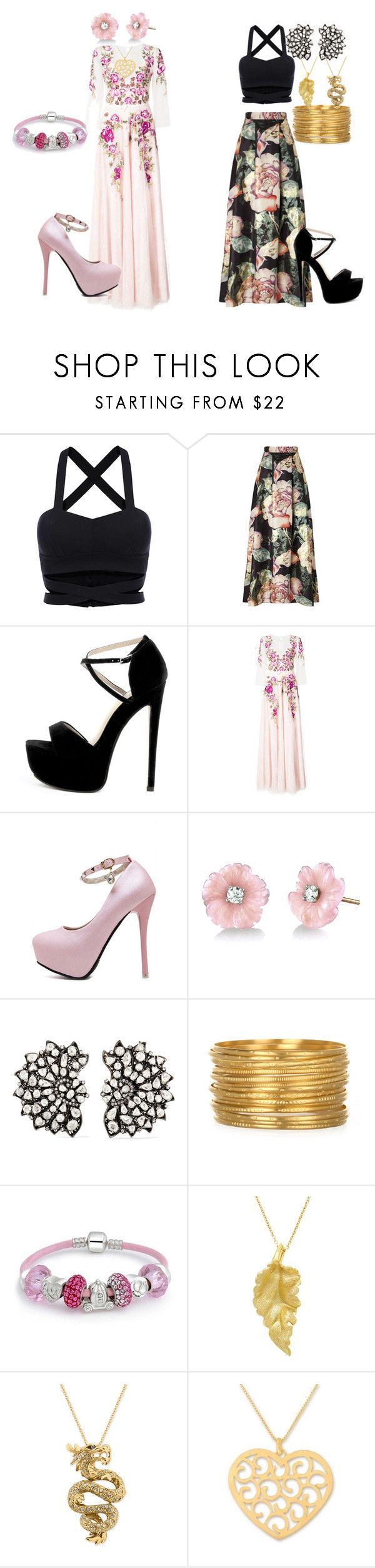 """""""spring-break party"""" by vanessa-dias-charles on Polyvore featuring Miss Selfridge, Notte by Marchesa, Irene Neuwirth, Amrapali, Bling Jewelry, London Road, Effy Jewelry and NOVICA"""