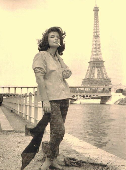 Jenny Karezi (Greek actress) in Paris.