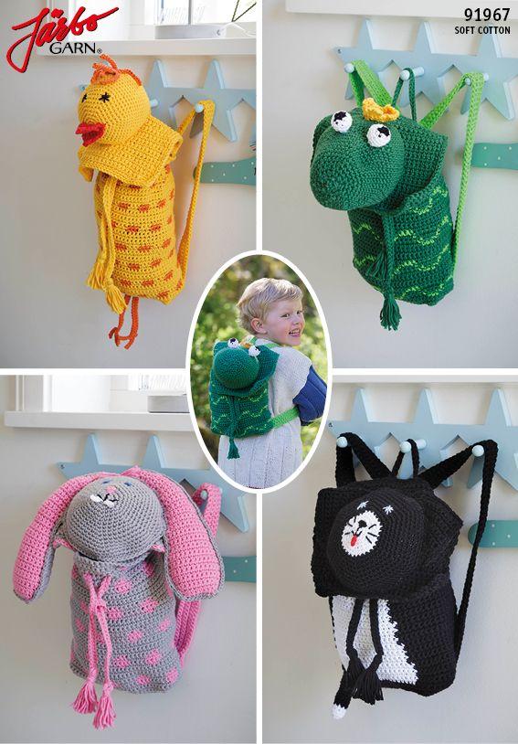 Crochet rucksacks for the small one's,
