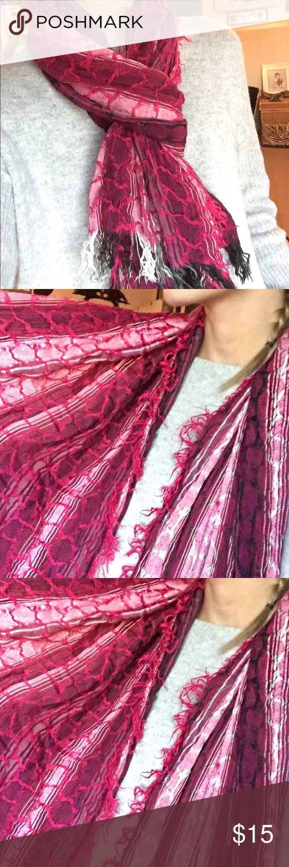Afghan Scarf Long lightweight beautiful scarf 💕 Accessories Scarves & Wraps
