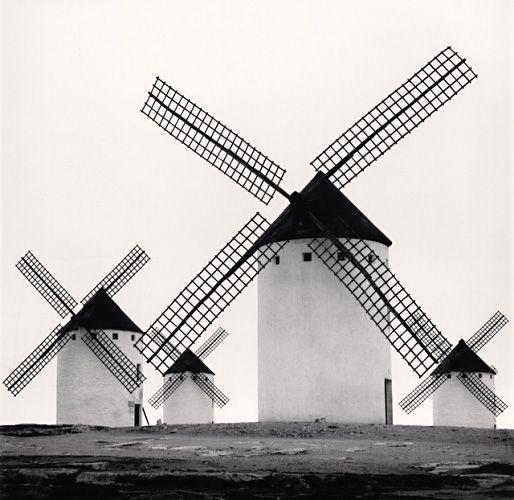 Quixote's Giants, Study 5, Campo de Criptana, Spain, 1996 by Michael Kenna