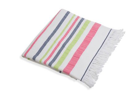 Turkish Terry Towel Navy / Pink