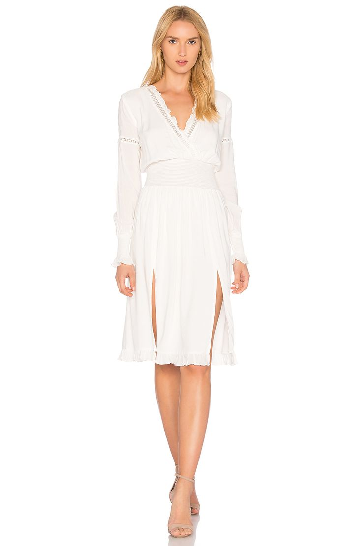 MAJORELLE Garnet Dress in Ivory