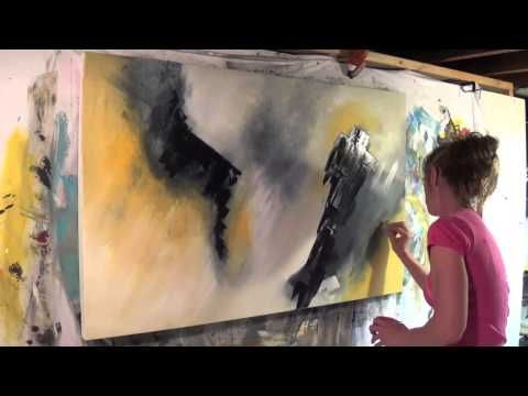"Abstract Art Painting Demo - Original by Shari Kreller - ""Crows"" - YouTube"
