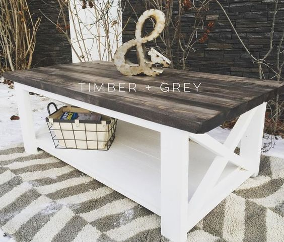 Rustic Coffee Table | Ana White | DIY Coffee Table | Farmhouse Coffee Table | Rustic X Coffee Table | Farmhouse Décor | Rustic Décor | Cottage Style | Home Décor