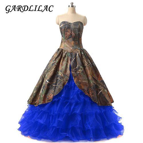 >> Click to Buy << Camo Camo Organza Ball Gown Wedding Dress Lace up Court Train Vestido de novia princess #Affiliate