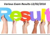 So many students and candidates don't get the actual date of their examination result, they search for their results on the internet but got nothing, so to keep this thing in mind, here we are sharing all the Universities, Competitive Exam Results 2016. You can now check your University Result with just one click below we have shared all the Course Name, Universities Name, Competitive Exam Name results which can be download with just one click. India Results 2016- 12/02/2016 >>>Bachelor's…