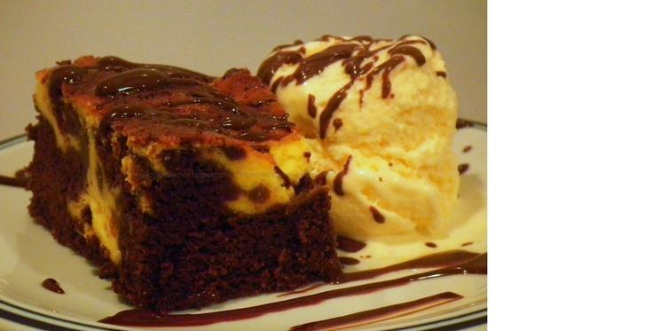 Alquimia dos Tachos: Brownie com mesclado de cheesecake