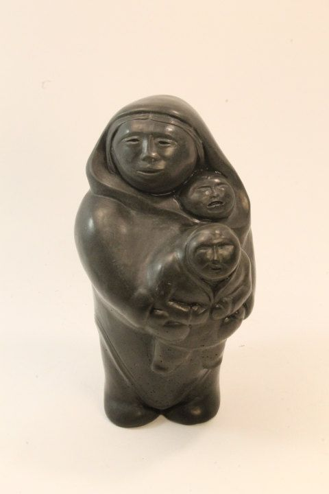 Soapstone carving inuit art mother and by clockworkrummage