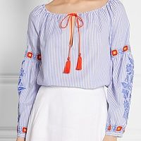 Madison Embroidered Oxford Tunic | Endource