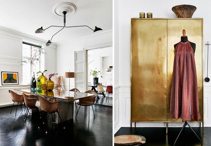 I sin klassiske leilighet bor motedesigner Hanne Bloch med  håndlagde møbler og gyllen glamour – og en umiskjennelig skandinavisk touch.