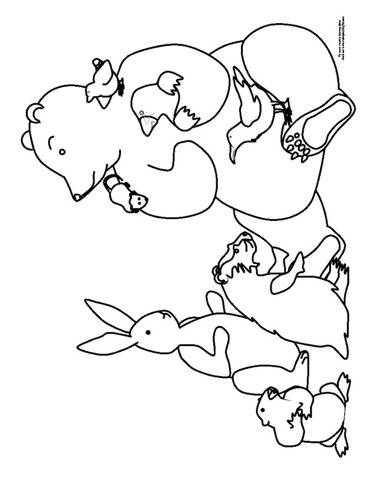 bears hibernation coloring pages - photo#7