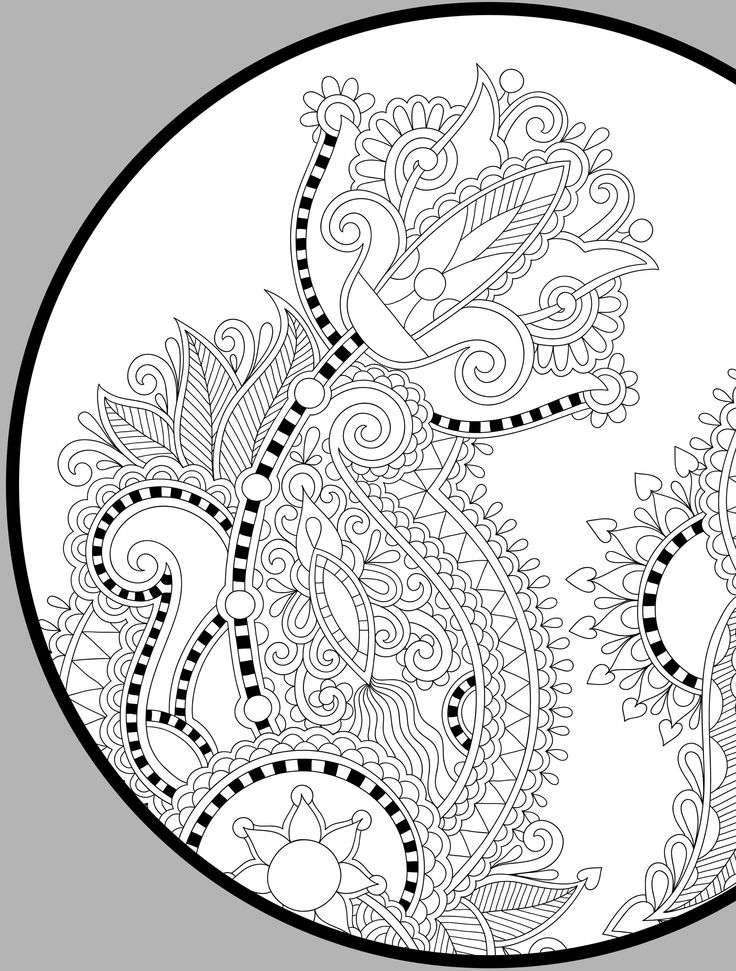 Abstract Doodle Coloring Pages : Best images about abstract zentangles paisley etc to