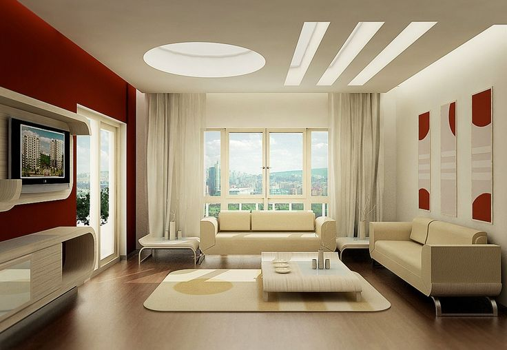 Genial Contemporary Red Living Room Ideas With Red And White Combination Wall  Paint Color And Beige Modern And Unique Living Room Furniture Like Sofa And  Coffee ...
