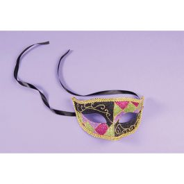 Gold, Black, and multicolor Venetian masquerade half mask | Wally's Party Factory #Gold #Black #and #Multicolor #Venetian #Masquerade #Half #Mask