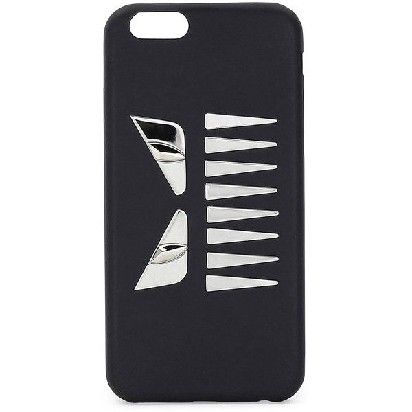 Fendi Face w/Teeth iPhone 6 Case (£605) ❤ liked on Polyvore featuring men's fashion, men's accessories, men's tech accessories, black and fendi