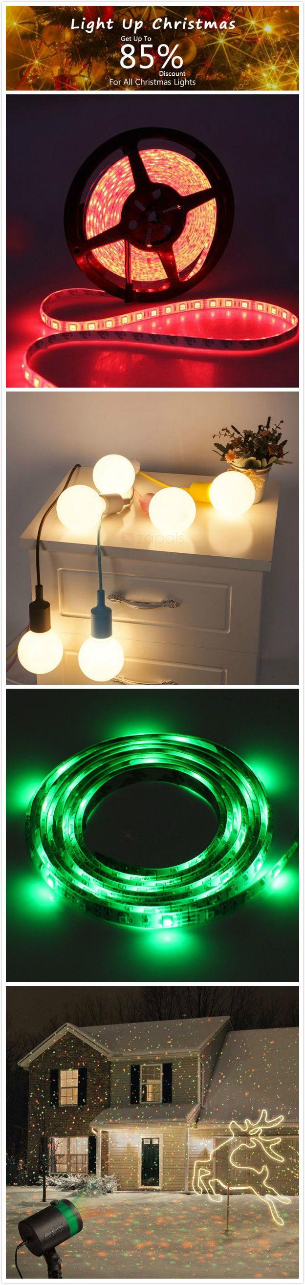 Christmas Lights Mega Sale! LED Strip Lights, Stage Lights, Festival Decor Lights, and Smart APP Control Lights with new design for sale! Light Up Your Christams!