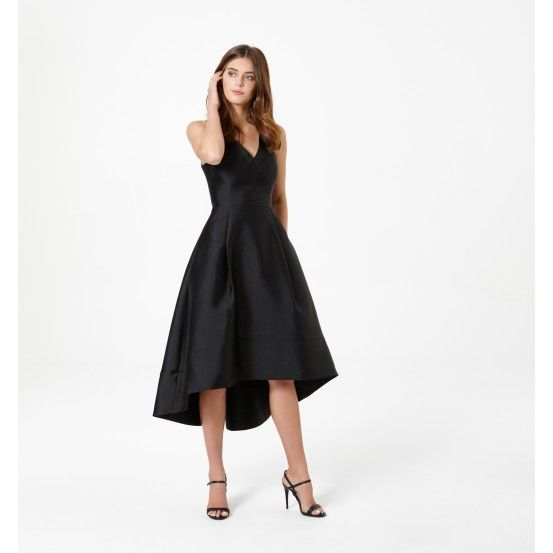 Lydia V-Neck High-Low Prom Dress