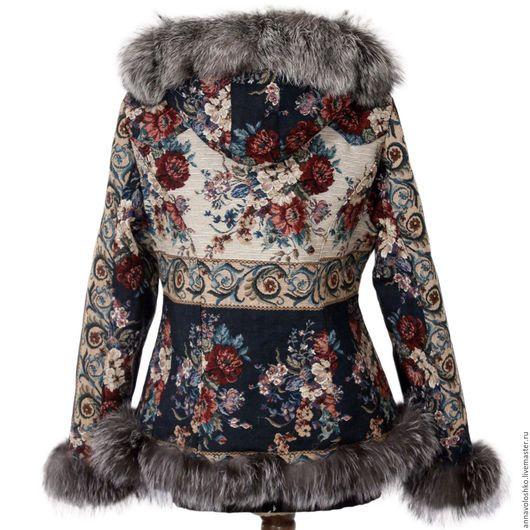 Жилеты ручной работы. Джинсовая куртка с капюшоном, арт. 6628. National Brand. Интернет-магазин Ярмарка Мастеров. Жилет