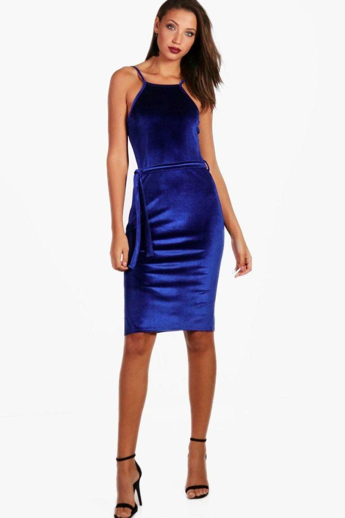 Sandalia para vestido azul