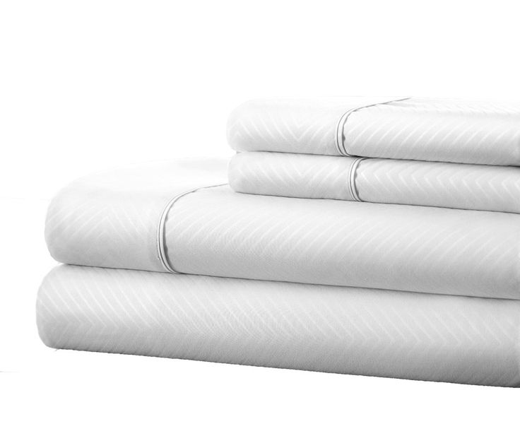 Dollard Double-Brushed Chevron Sheet Set