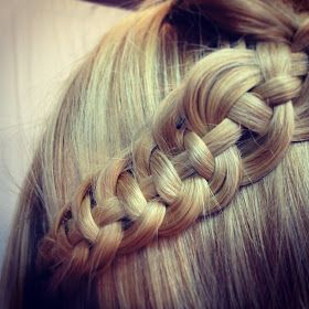 This incredible braid is something new that I just learned! Formed from 4 strands, I would say this is a advanced braiding technique th...