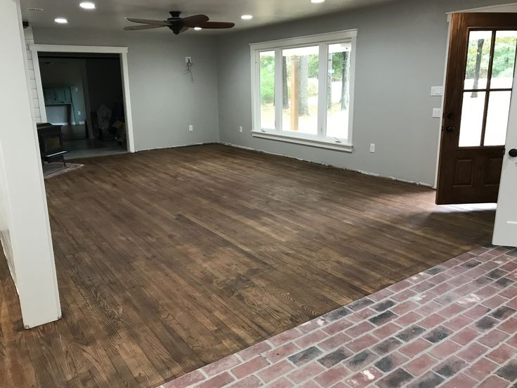 Special walnut and weathered oak floor stain Color for