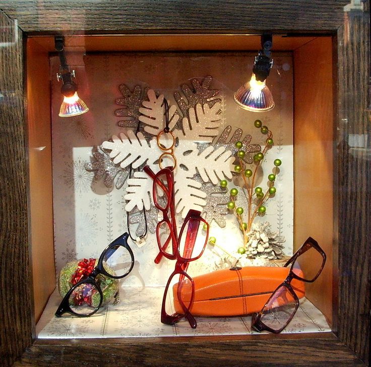 Holiday Eyewear Window Display Merchandising Bright