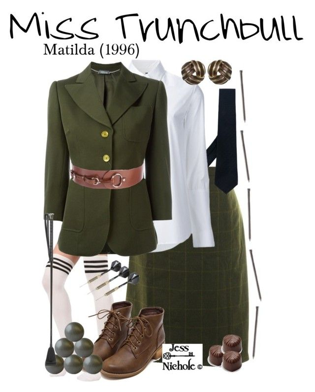 """""""Miss Trunchbull"""" by jess-nichole ❤ liked on Polyvore featuring windsor., Lab, Kiton, Misha Nonoo, Alexander McQueen, Kiki de Montparnasse and Gucci"""