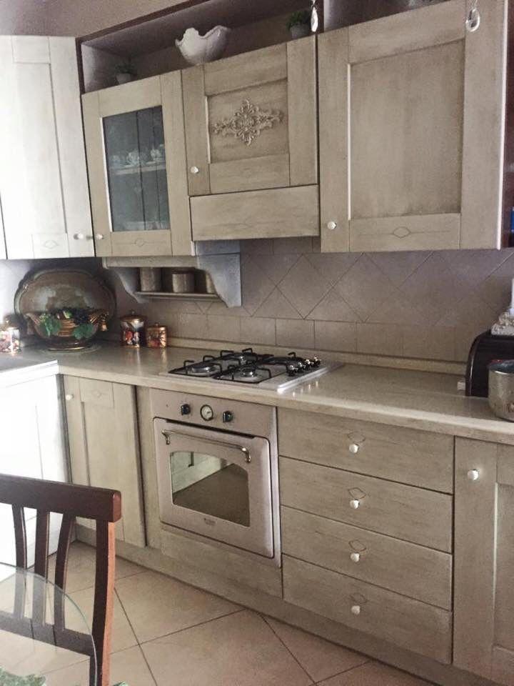 Cucina Trasformata Con Colori Vintage Paint Arredamento Colori Vintage Rifare Mobili