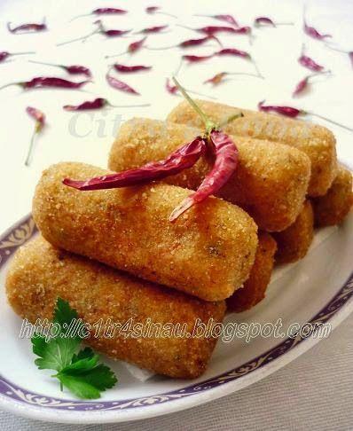 Citra's Home Diary: Kroket Kentang ayam ( Potato Chicken Croquettes)