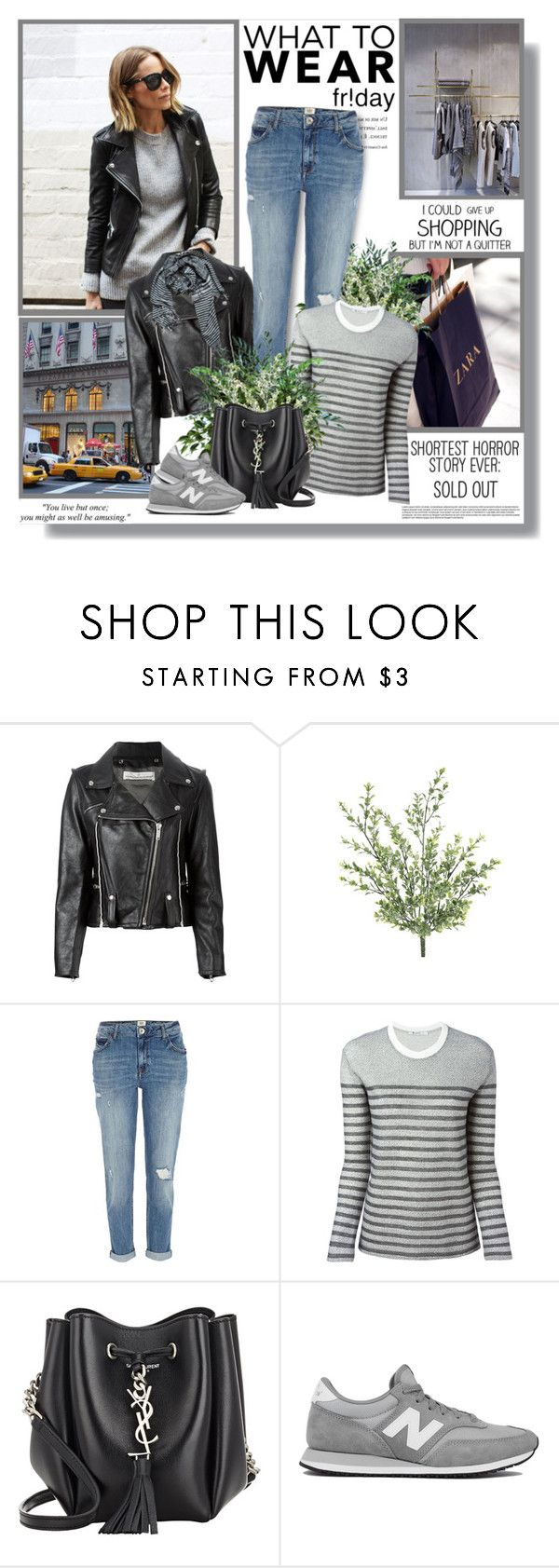"""What to Wear: Black Friday Shopping"" by lilly-2711 ❤ liked on Polyvore featuring Whiteley, Golden Goose, River Island, T By Alexander Wang, Yves Saint Laurent, New Balance and Zara"