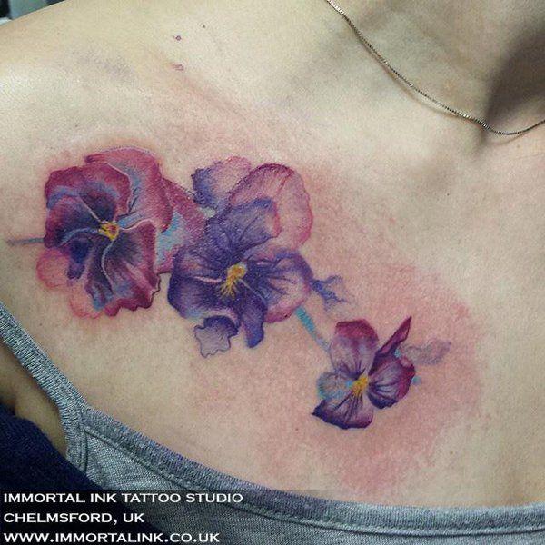 Best 25 Lavender Tattoo Ideas On Pinterest: 25+ Best Ideas About Pansy Tattoo On Pinterest