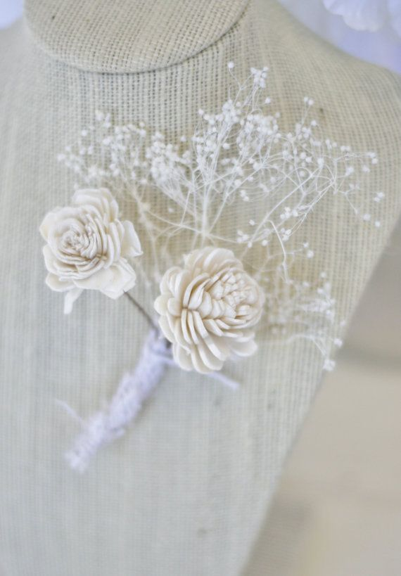 Rustic Wedding Boutonniere item F10301 by braggingbags on Etsy, $19.99