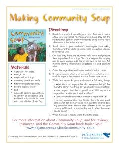 "Make ""Community Soup"" in your classroom"